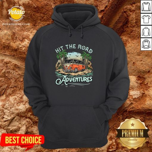 Hot Hit The Road Adventures Hoodie - Design By Potatotees.com