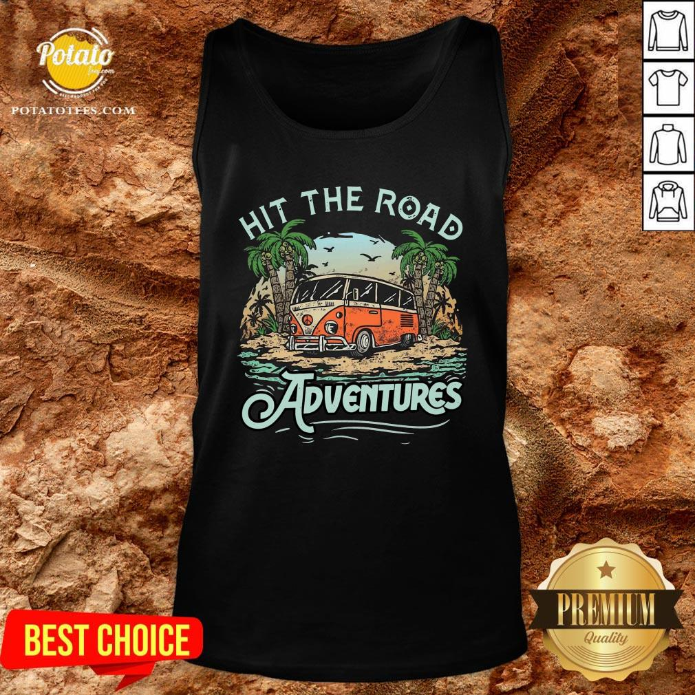 Hot Hit The Road Adventures Tank Top - Design By Potatotees.com