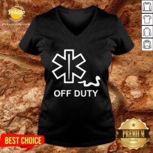 Hot Pharmacy Off Duty V-neck - Design By Potatotees.com