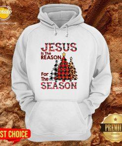 Hot Plaid Jesus Is The Reason For The Season Pine Christmas Hoodie - Design By Potatotees.com