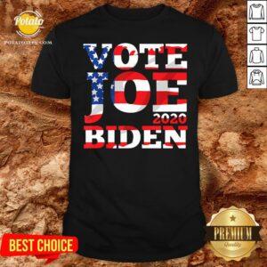Hot Vote Joe Biden 2020 American Flag Shirt - Design By Potatotees.com