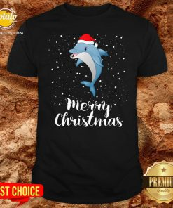 Official Dolphins Santa Reindeer Light Christmas Shirt - Design By Potatotees.com