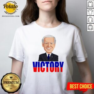 Official Joe Biden Victory President 2020 America V-neck - Design By Potatotees.com