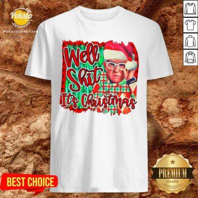 Official Leslie Jordan Santa Well Shit It's Christmas Shirt - Design By Potatotees.com