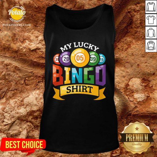 Original My Lucky Bingo Tank Top - Design By Potatotees.com