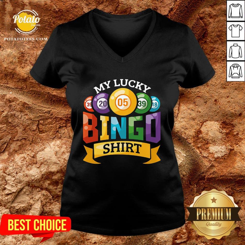 Original My Lucky Bingo V-neck - Design By Potatotees.com