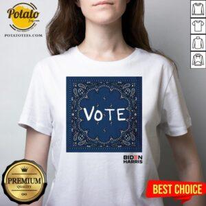 Original Vote Biden Harris V-neck - Design By Potatotees.com