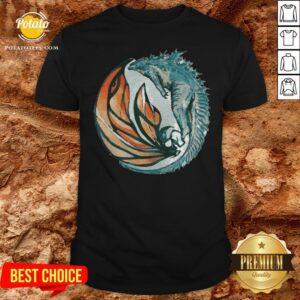 Perfect Godzilla King And Queen Yin And Yang Shirt - Design By Potatotees.com