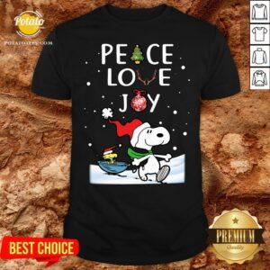 Perfect Merry Christmas Peanuts Snoopy Peace Love Joy Shirt - Design By Potatotees.com