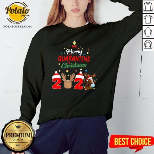 Perfect Merry Quarantine Christmas 2020 Sweatshirt Design By Potatotees.com
