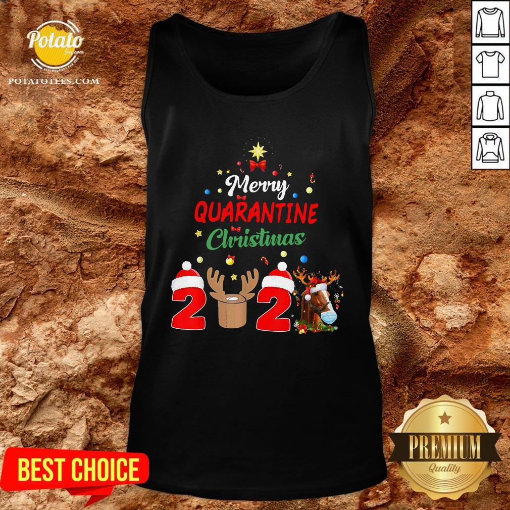 Perfect Merry Quarantine Christmas 2020 Tank Top  - Design By Potatotees.com