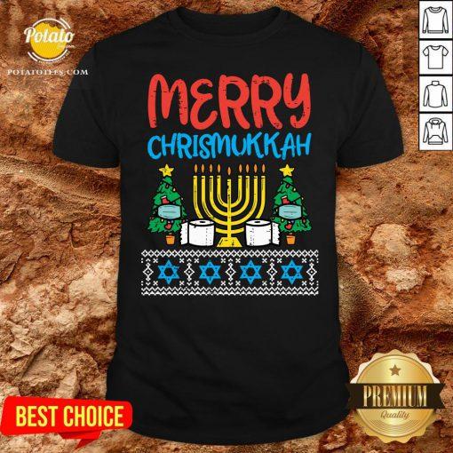 Pretty Merry Chrismukkah Toilet Paper Xmas Hanukkah Quarantine Gift Shirt - Design By Potatotees.com