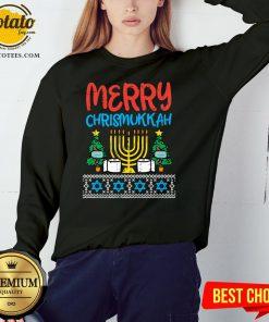 Pretty Merry Chrismukkah Toilet Paper Xmas Hanukkah Quarantine Gift Sweatshirt - Design By Potatotees.com