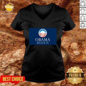 Pretty Obama Biden President 46 America V-neck - Design By Potatotees.com