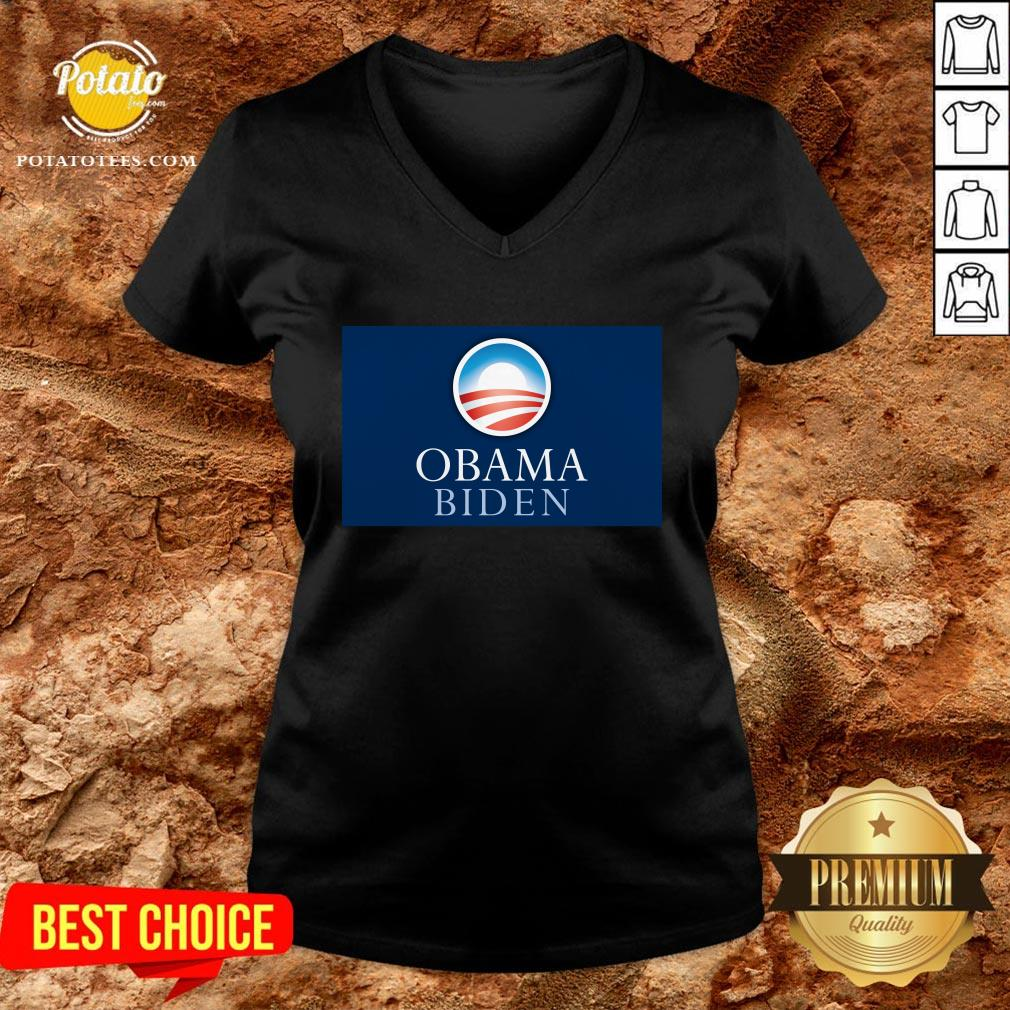 Pretty Obama Biden President 46 America V-neck - Design By Potatotees.com