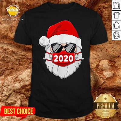 Pretty Santa With Face Mask Christmas Shirt - Design By Potatotees.com