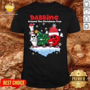 Top Bowling Dabbing Around The Christmas Tree Shirt - Design By Potatotees.com