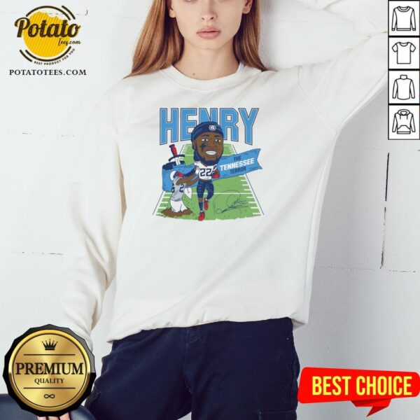 Top Derrick Henry The Tennessee Terror Signature Sweatshirt - Design By Potatotees.com