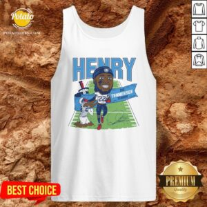 Top Derrick Henry The Tennessee Terror Signature Tank Top - Design By Potatotees.com