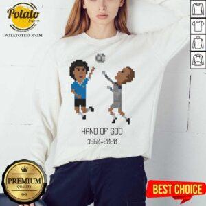 Hot Diego Maradona Hand of God 1986 World Cup American Apparel RIP Argentina Legend 1960 2020 Soccer Sweatshirt- Design By Potatotees.com