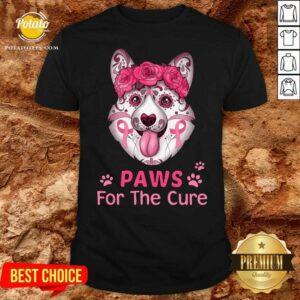 Awesome Corgi Sugar Paws For The Cure Shirt- Design by potatotees.com