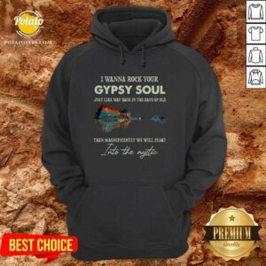 I Wanna Rock Your Gypsy Soul Then Magnificently We Will Float Into The Music Guitar Water Hoodie - Design by Potatotees.com
