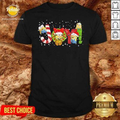 Awesome Joy Minions Christmas Shirt - Design by potatotees.com