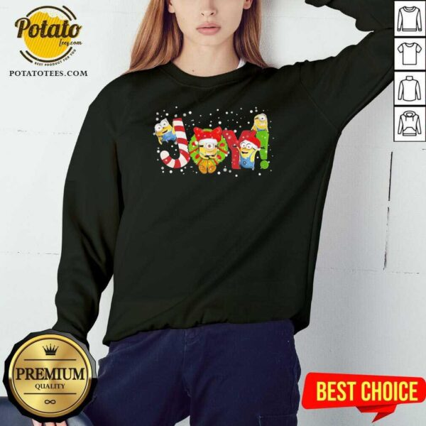 Awesome Joy Minions Christmas Sweatshirt - Design by potatotees.com