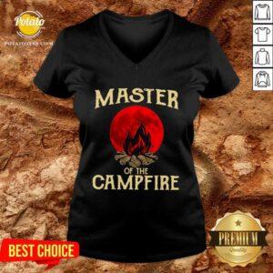 Master Of The Campfire V-neck - Design by Potatotees.com