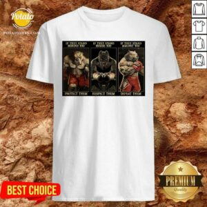 Pitbull Boxing Protect Respect Defeat If They Stand Behind You Shirt - Design by Potatotees.com