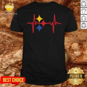 Awesome Pittsburgh Steelers Heartbeat Shirt - Design By Potatotees