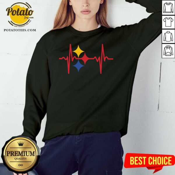 Awesome Pittsburgh Steelers Heartbeat Sweatshirt - Design By Potatotees