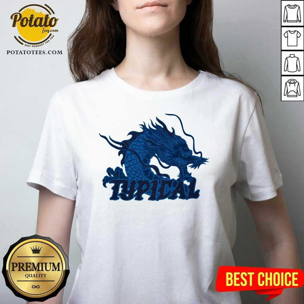 Typical Gamer Merch Scales Crystal V-neck- Design by Potatotees.com
