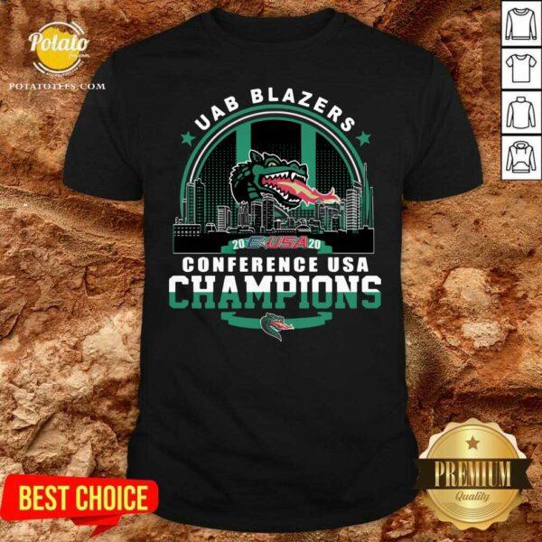 Uab Blazers C-USA 2020 Conference Usa Champions Shirt- Design by Potatotees.com