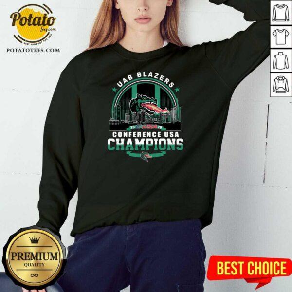 Uab Blazers C-USA 2020 Conference Usa Champions Sweatshirt- Design by Potatotees.com