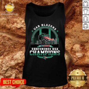 Uab Blazers C-USA 2020 Conference Usa Champions Tank-Top- Design by Potatotees.com