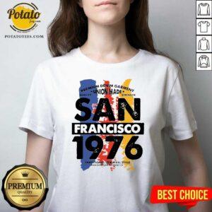 Union Made San Francisco 1976 V-neck - Design by Potatotees.com