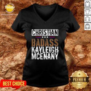 Best Christian Badass Kayleigh Mcenany V-neck- Design By Potatotees.com