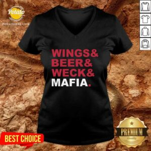 Buffalo Bills Wings And Beer And Weck And Mafia V-neck - Design by Potatotees.com
