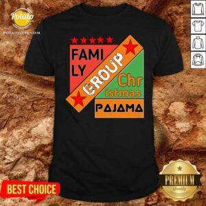 Family Group Christmas Pajama Shirt - Design by Potatotees.com