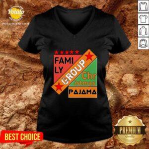 Family Group Christmas Pajama V-neck - Design by Potatotees.com