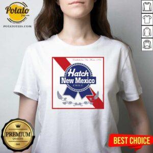 Hatch New Mexico Chile V-neck - Design by Potatotees.com
