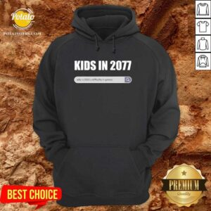 Funny Kids In 2077 Why 2020 Is A Difficulty In Games Gamer Hoodie - Design by potatotees.com
