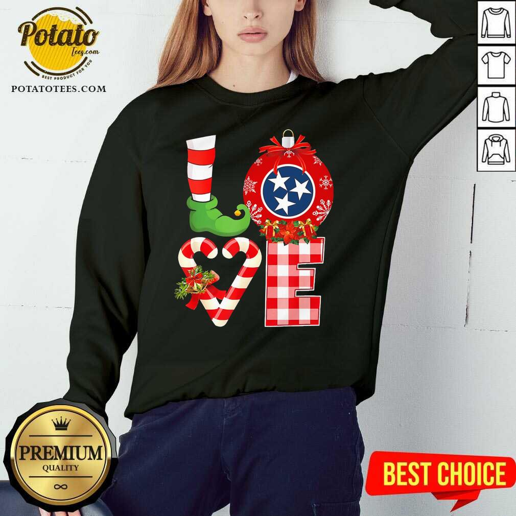 Funny Love Flag Of Tennessee State Christmas Sweatshirt - Design by potatotees.com