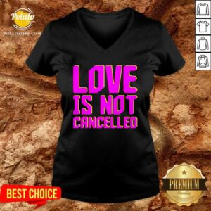 Love Is Not Cancelled 2020 V-neck- Design by Potatotees.com