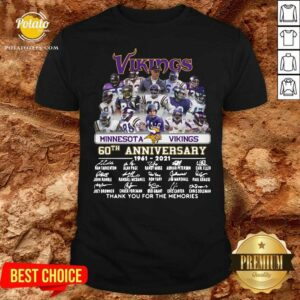 Minnesota Vikings 60th Anniversary Thank You For The Memories Signatures Shirt - Design By Potatotees.com
