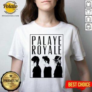 Palaye Royale Merch Silhouette V-neck- Design by Potatotees.com