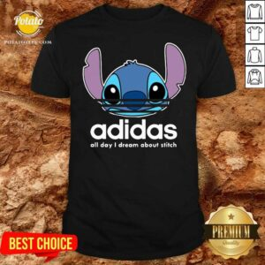 Funny Stitch Adidas All Day I Dream About Titch Shirt - Design by potatotees.com