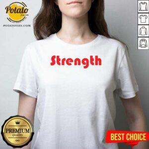 Strength V-neck - Design by Potatotees.com