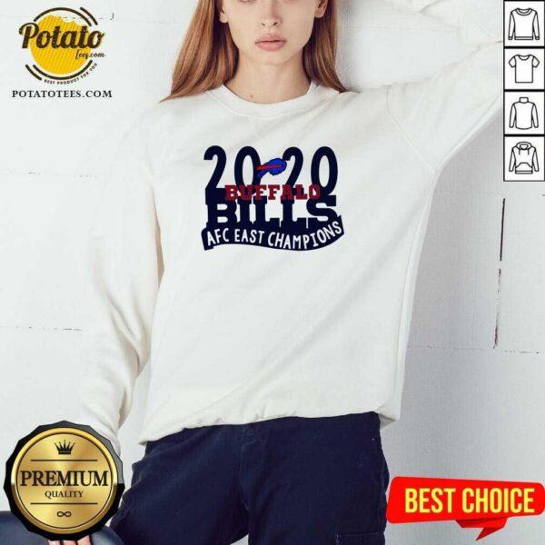 2020 Buffalo Bills Afc East Champions Sweatshirt- Design by Potatotees.com